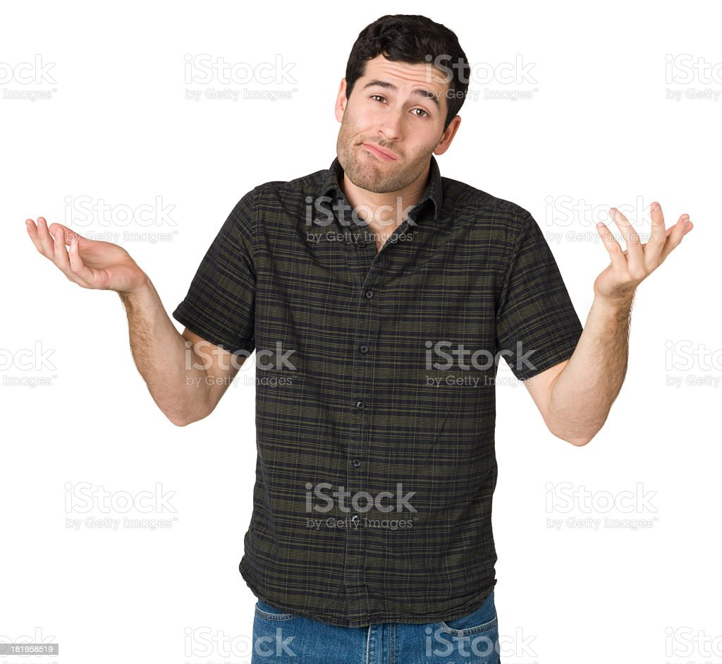 Confused Shrugging Man royalty-free stock photo