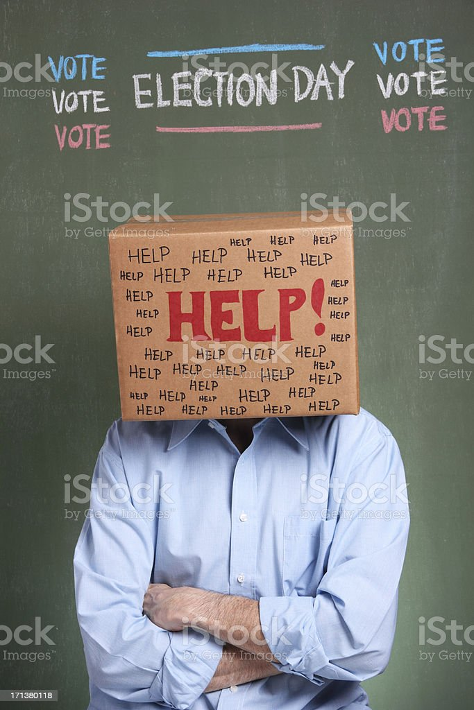 Confused Voter stock photo