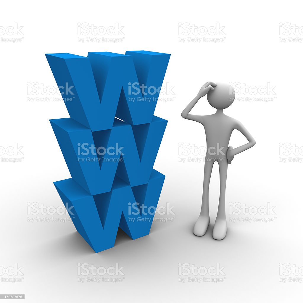 Confused with the web royalty-free stock photo