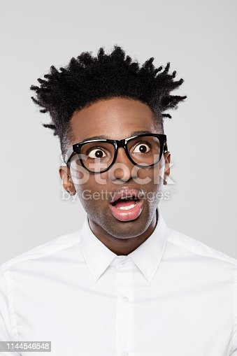 istock Confused young african businessman 1144546548