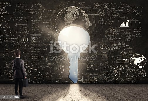 istock Confused young businessman 621493306