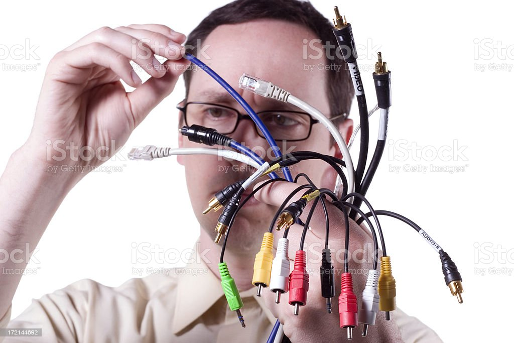 Confusing Cables royalty-free stock photo