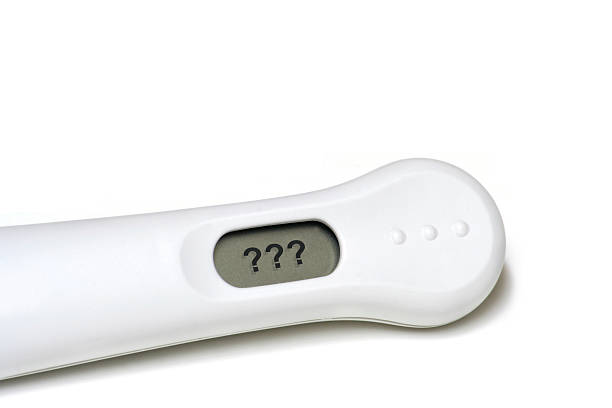 Confusing Pregnancy Test Results stock photo