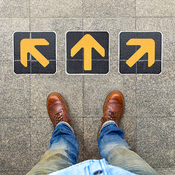 Verwirrung Richtung, Pfeil – Foto