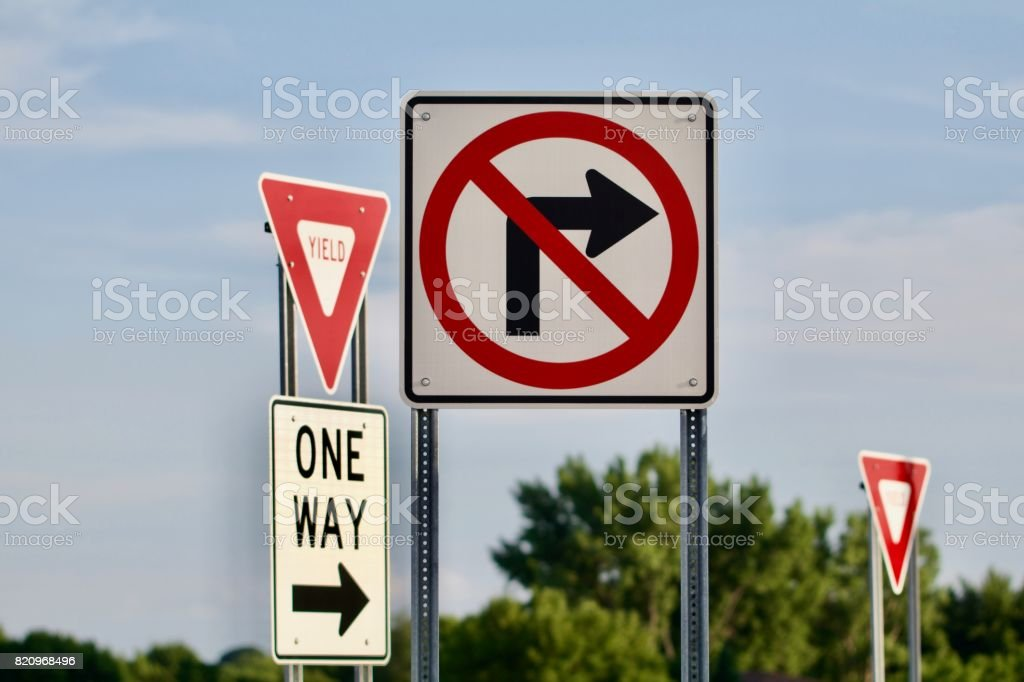 Confusion of Signs stock photo