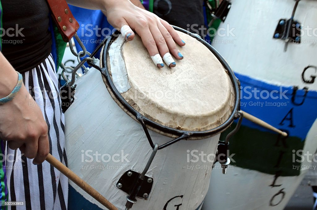 Conga en mano stock photo