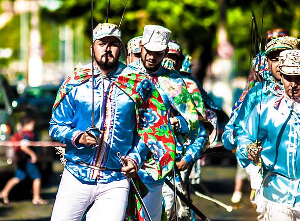 congada de ilhabela tradicional festival folclórico no Brasil - foto de acervo