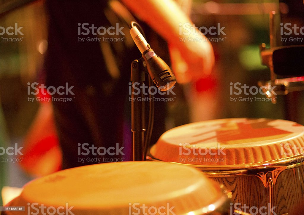 Congas on stage stock photo