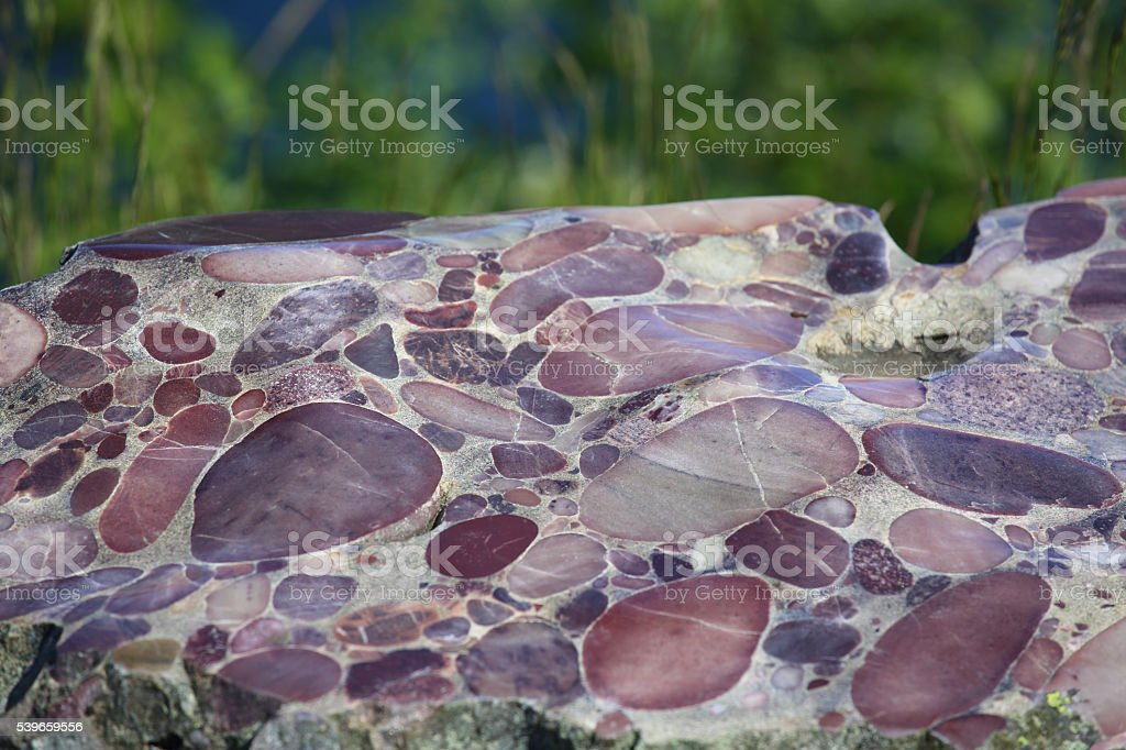Conglomerate marble stone texture stock photo