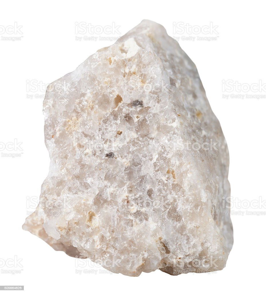 Conglomerate mineral stone isolated stock photo