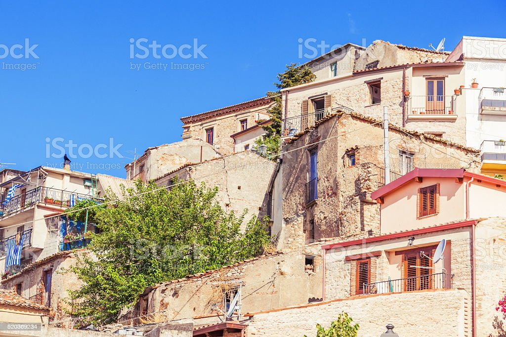 Conglomeration of rustic houses stock photo