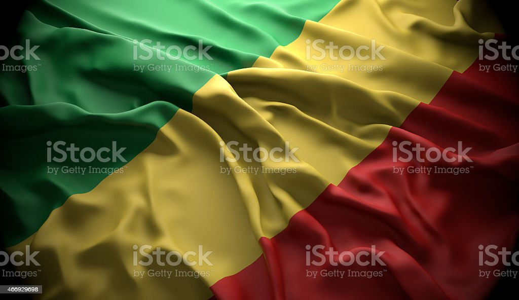 Congo, Brazzaville national official state flag stock photo