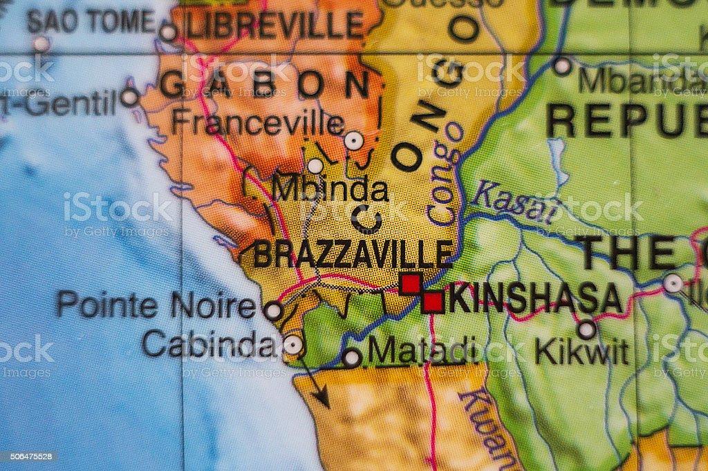 Congo country map . stock photo