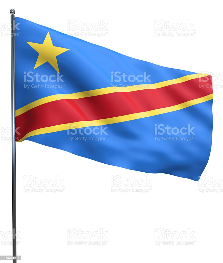 Congo Flag Image stock photo
