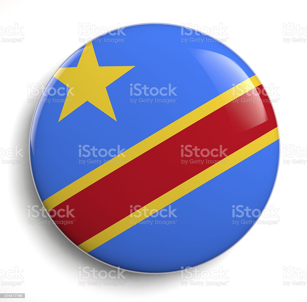 Congo flag stock photo
