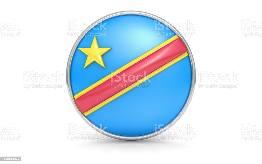 Congolese flag stock photo