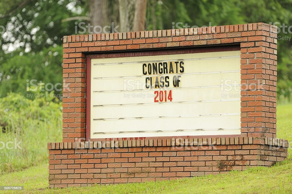 Congrats class of 2014 stock photo