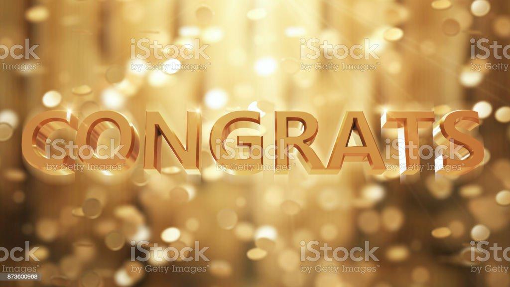 Congrats stock photo