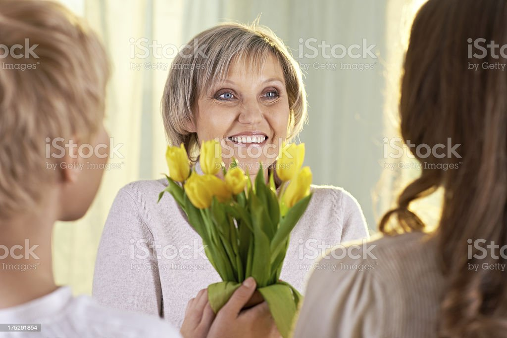Congratulating with Mother's day royalty-free stock photo