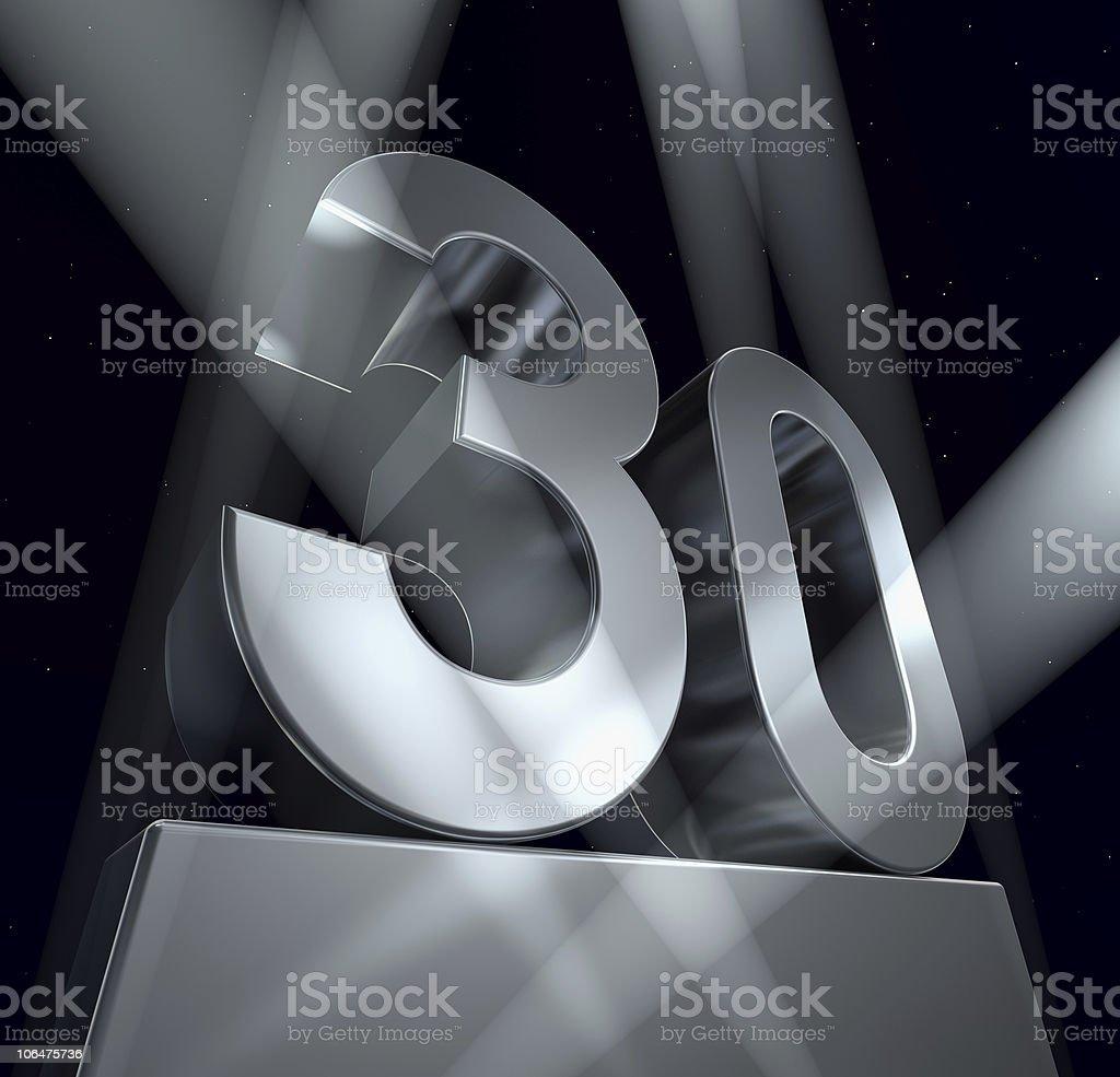 congratulation 30 stock photo