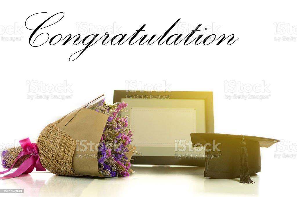 Congratulation for graduate. - foto de stock