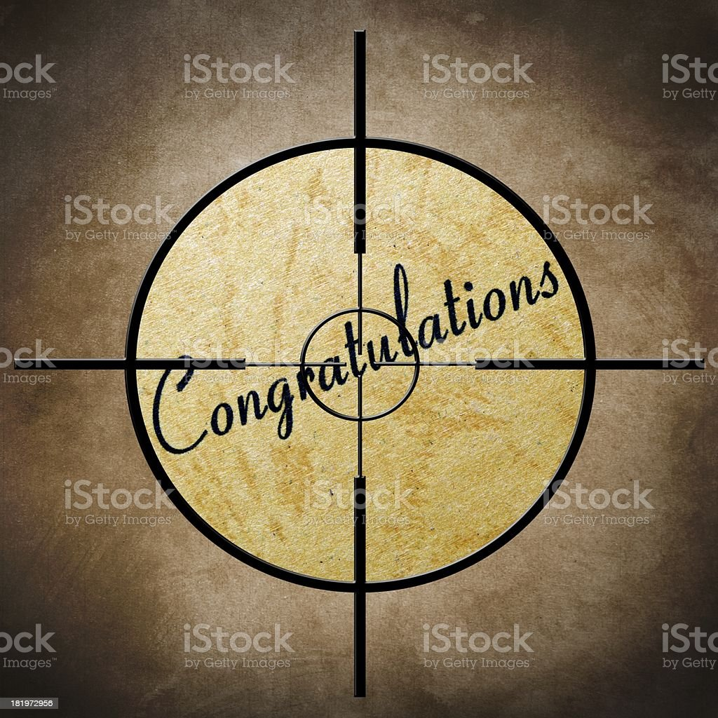 Congratulation target royalty-free stock photo
