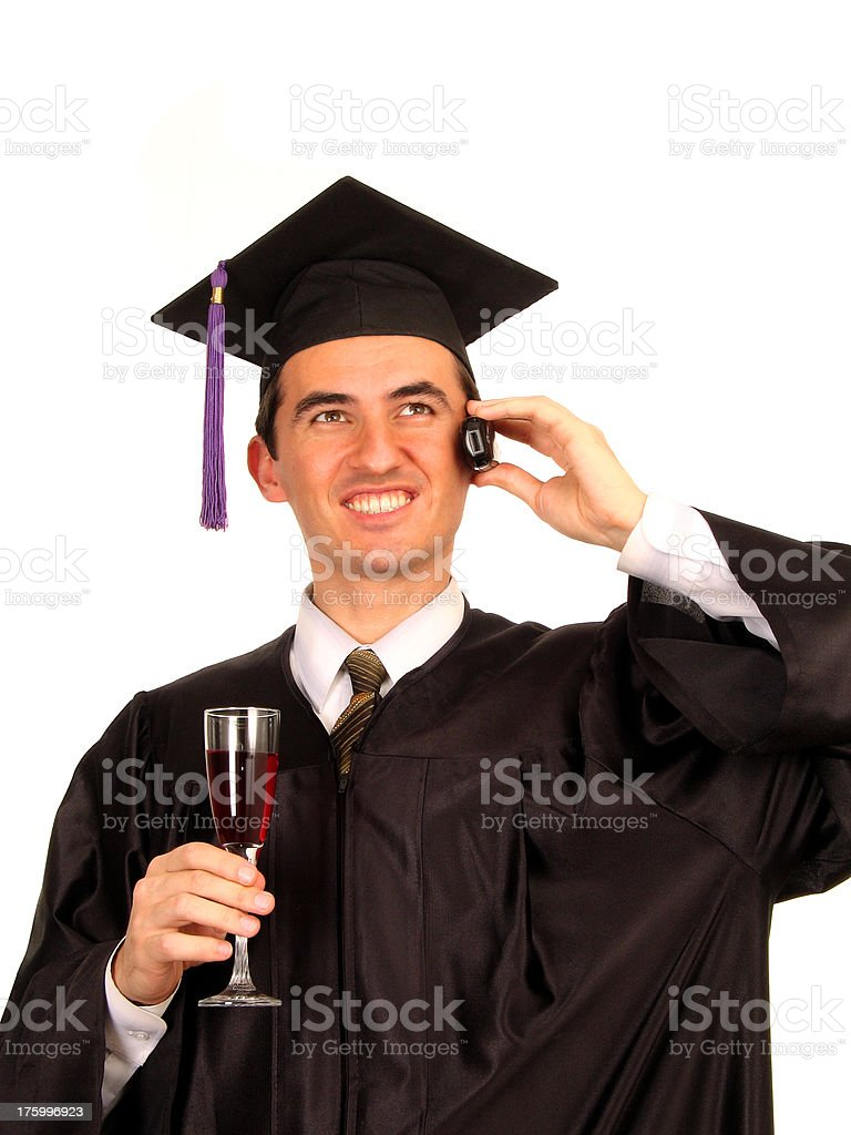 Congratulations by the Phone royalty-free stock photo