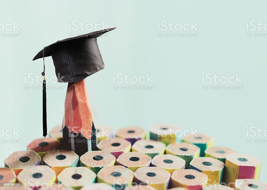 congratulations graduates background, inscription in pencil and stock photo