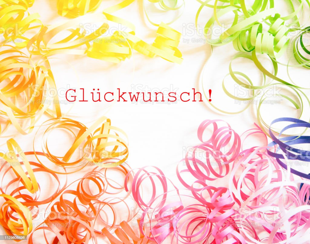 Congratulations In German Language Stock Photo Download Image Now Istock