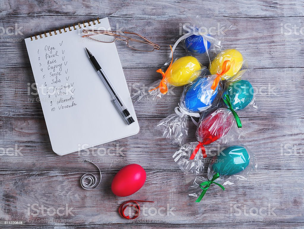Congratulations on Easter stock photo