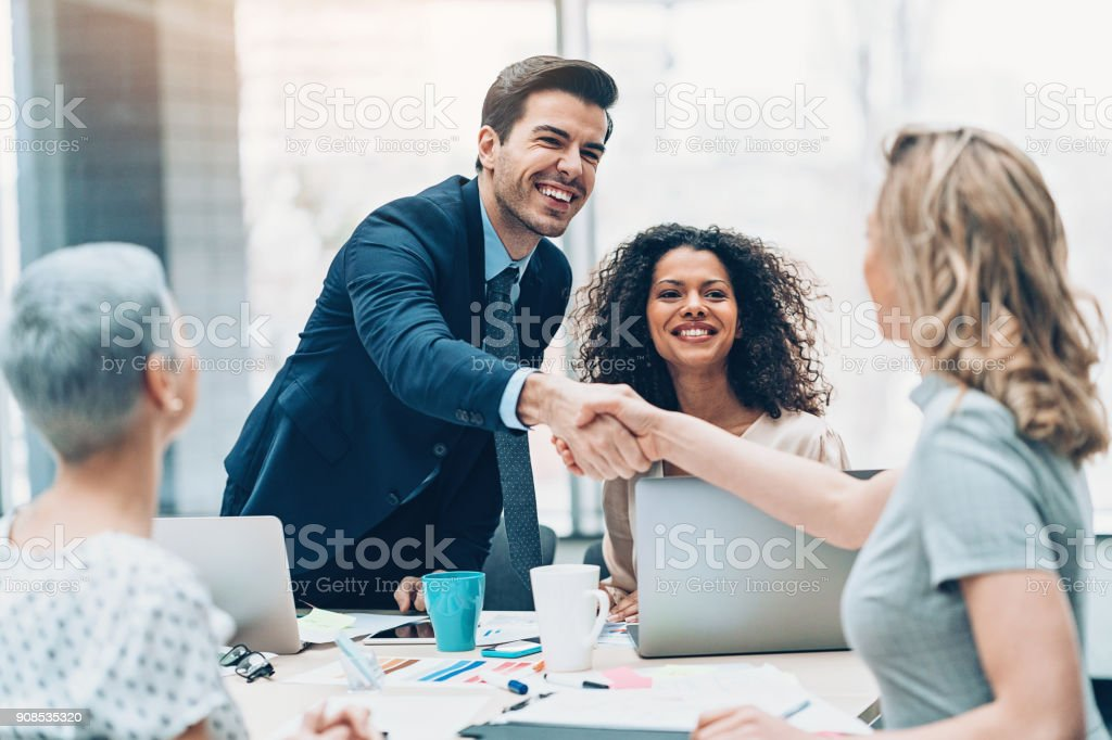 Congratulations on the new position stock photo
