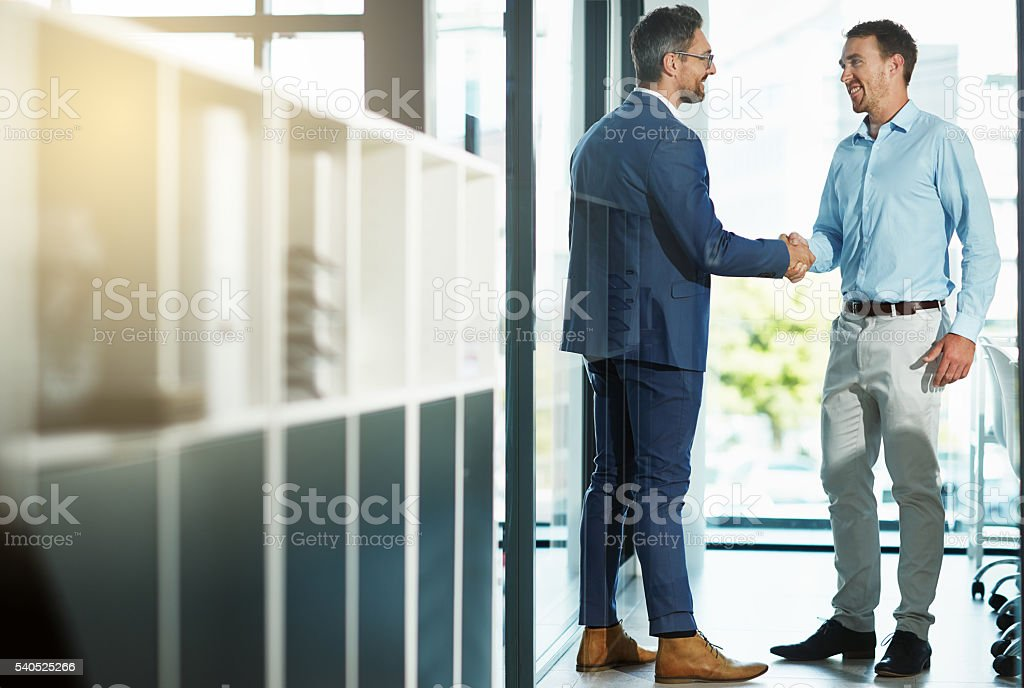 Congratulations on your promotion stock photo