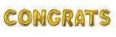 Congratulations gold foil balloon letters
