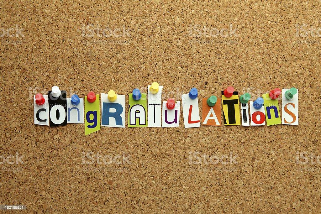 Congratulations stock photo