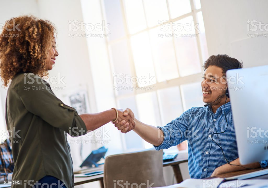 Congratulations to our sales champion stock photo