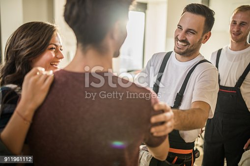 961745166istockphoto Congratulations, your apartment is ready for relocation! 911961112