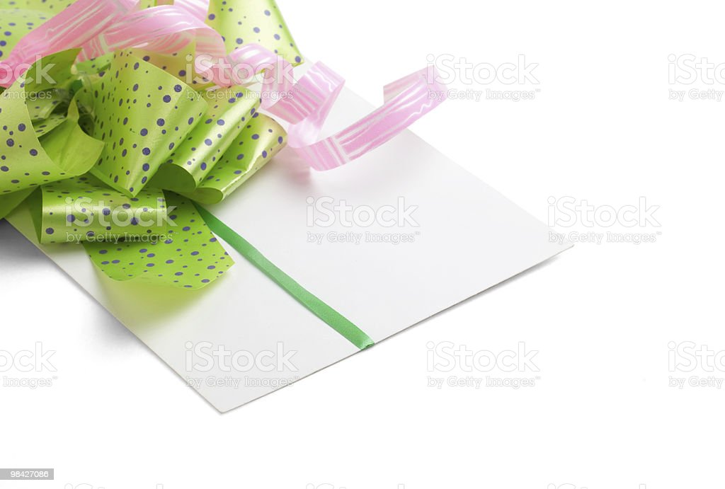 congratulatory letter for Valentine's Day royalty-free stock photo