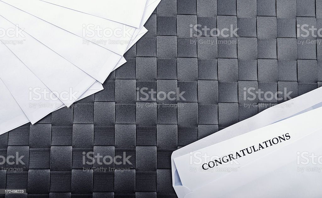 Congratulatory Letter on Table royalty-free stock photo