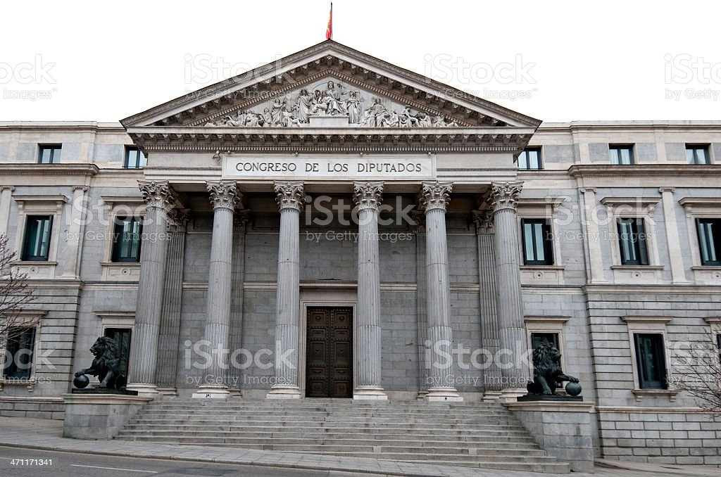 """Congreso de los diputados"" of Madrid. Parliament. royalty-free stock photo"