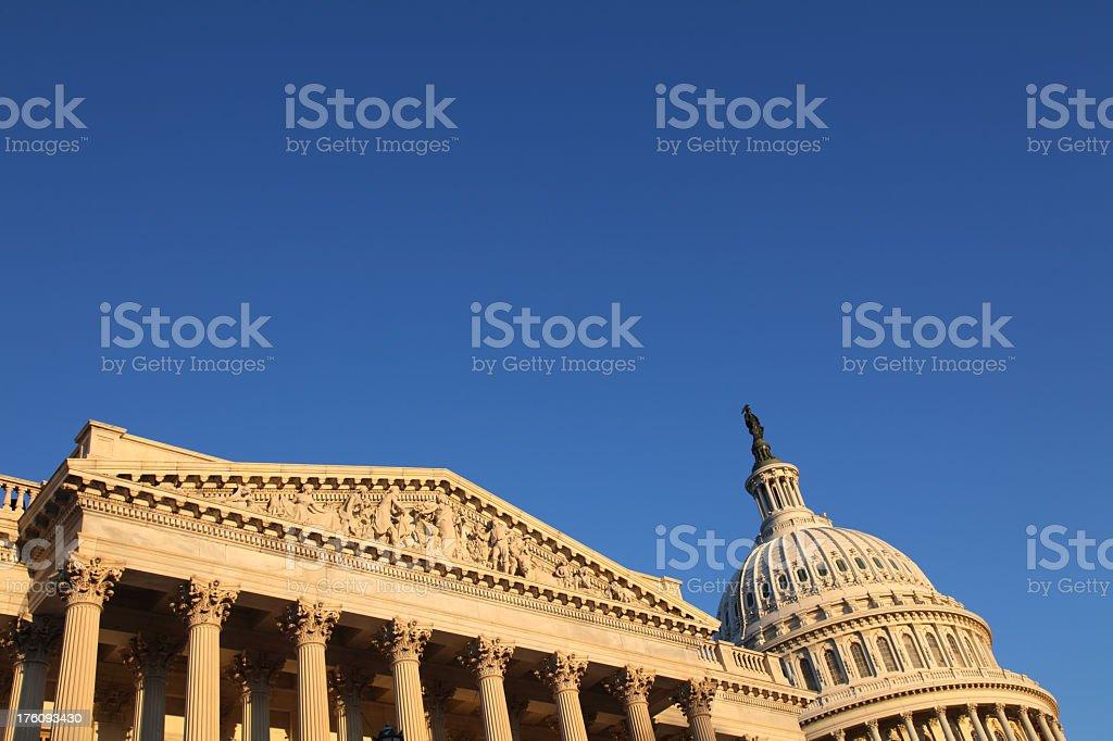 US Congress at Sunrise royalty-free stock photo