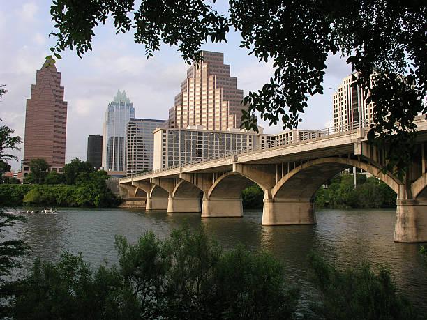 Congress Avenue Bridge stock photo