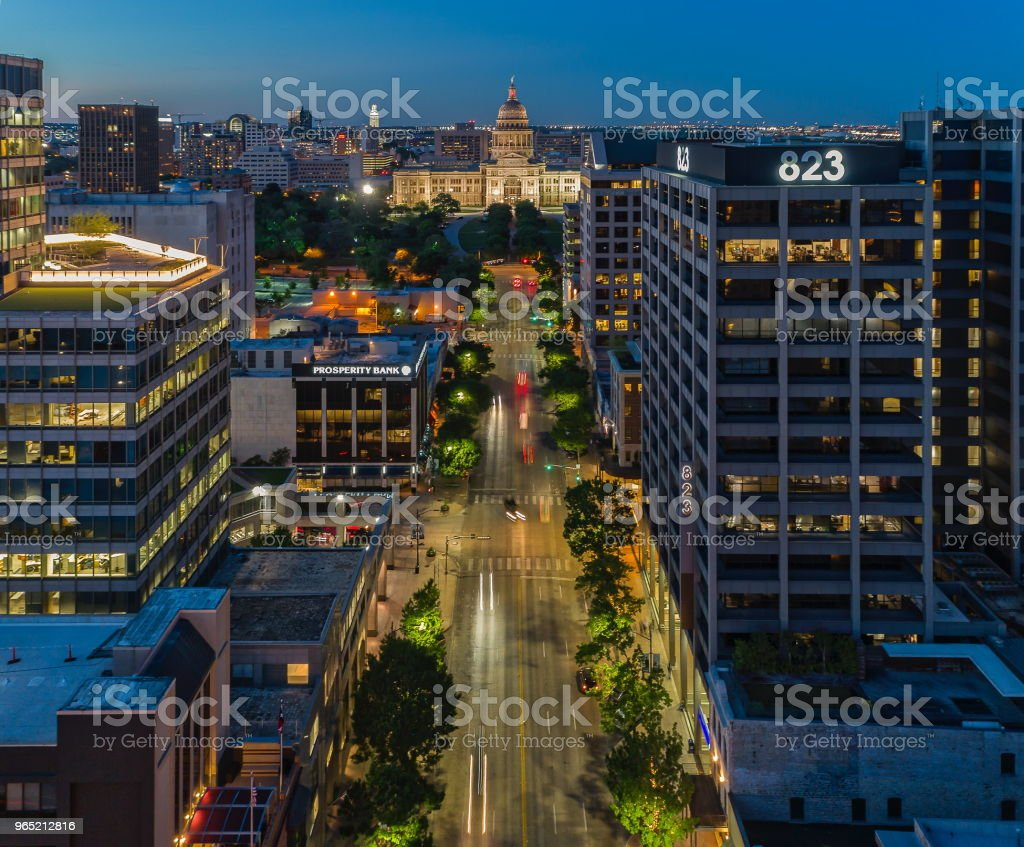Congress Avenue in Austin, Texas royalty-free stock photo