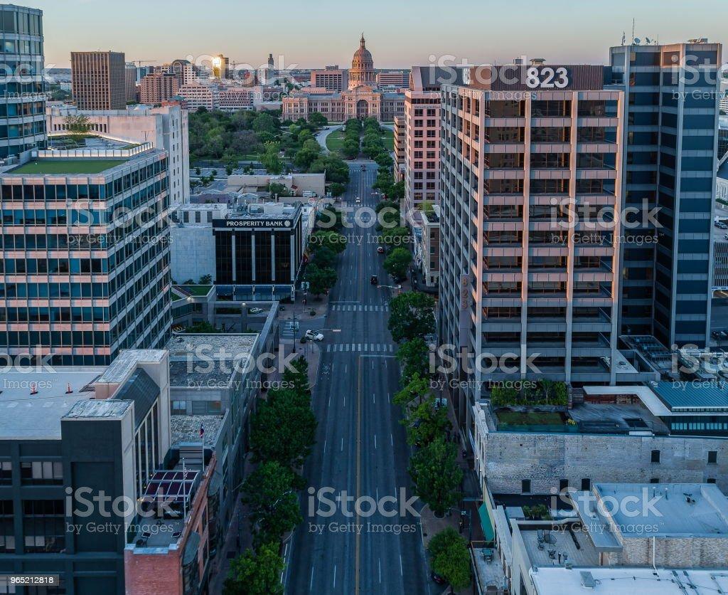 Congress Avenue in Austin, Texas royalty-free stock photo