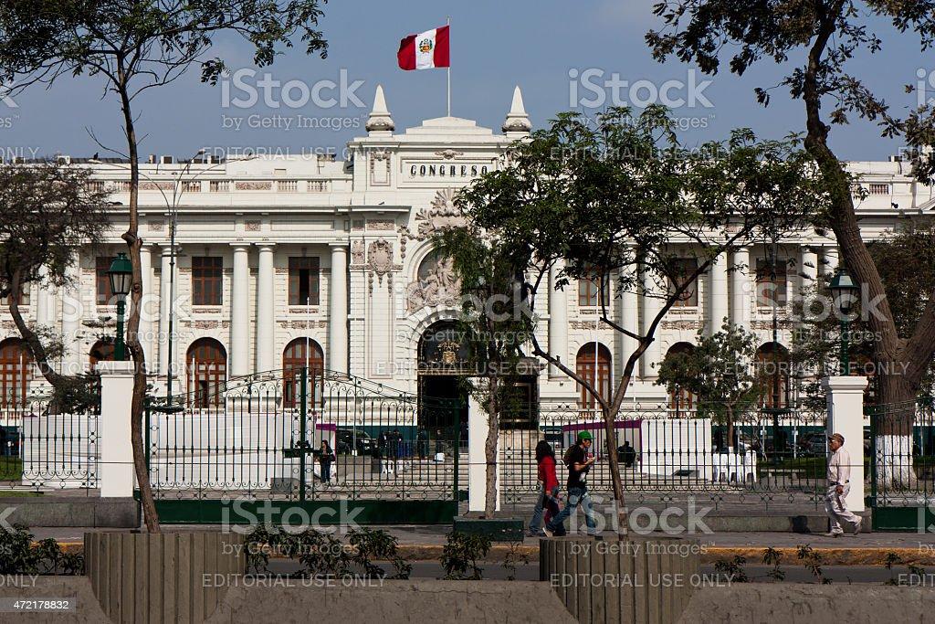 Kongressgebäude in Lima, Peru Lizenzfreies stock-foto