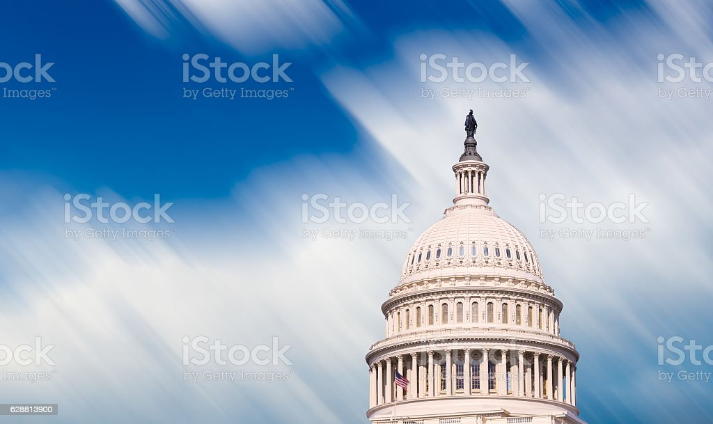 Congress capitol dome in Washington DC stock photo