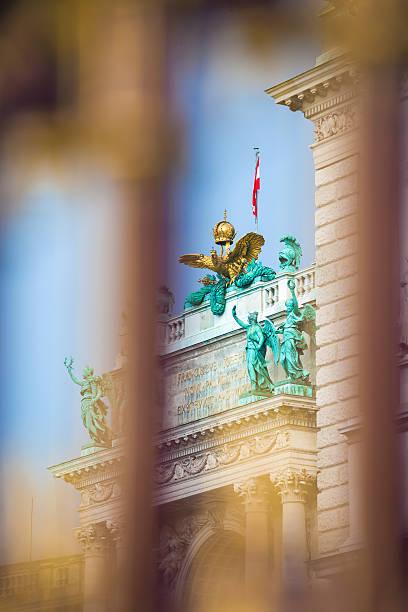 centro congressi golden parete e dettaglio architettonico a vienna - vienna congress foto e immagini stock