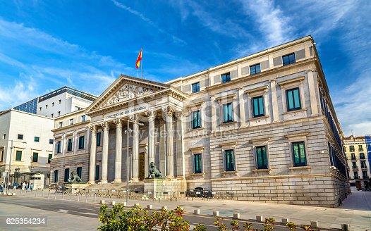 Congress of Deputies building in Madrid - Spain