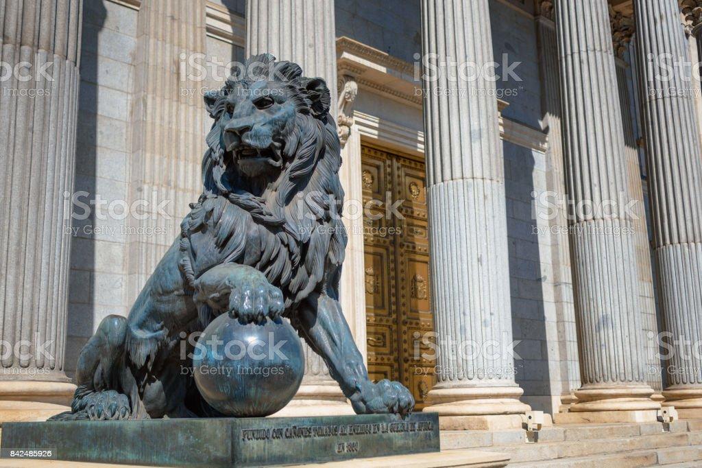 Congress of Deputies of Spain Entrance stock photo