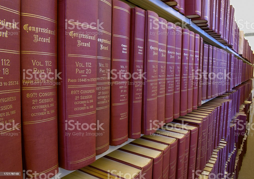 Congressional Record stock photo