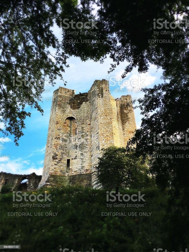 Conisbrough Castle, Yorkshire, UK stock photo